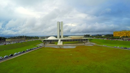 Aerial View from the National Congress of Brazil in Brasilia