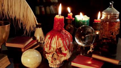 Human Skull Candle Studio