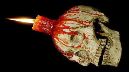 Candle Skull Loop Alpha