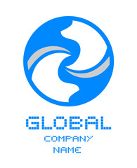 Global company symbol