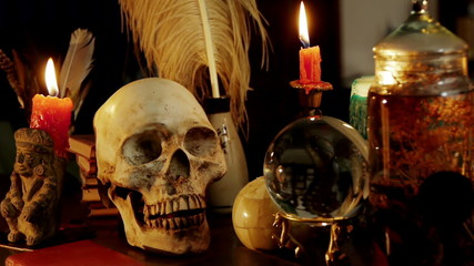 Skull Witchcraft Desk Artifacts