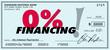 0% Zero Percent Financing Low No Interest Loan Payment