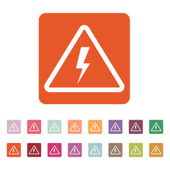 The lightning icon. Danger symbol. Flat