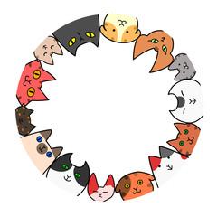 猫 円 コピースペース カラー