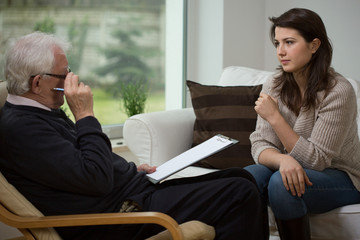 Talking with psychologist