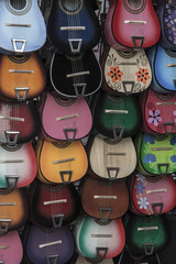 Colorful Guitars on Display