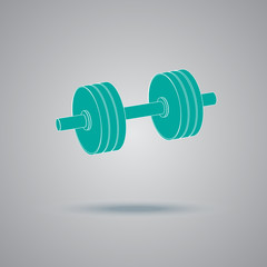 barbell, icon, flat, vector, illustration