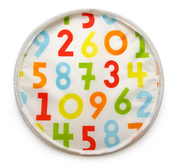 Colorful background with rendom numbers