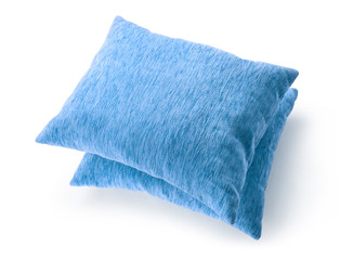 Soft blank blue pillows