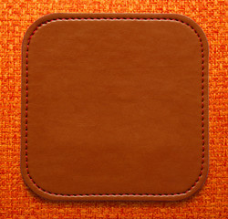 Blank leather brown label