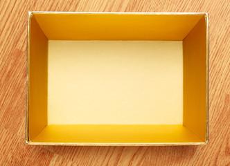 Empty open square box