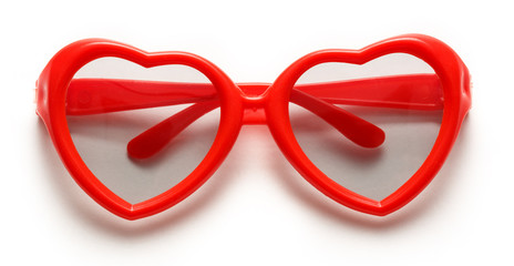 Red heart shaped sunglasses