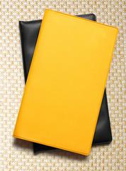 Yellow blank book