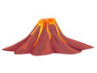 Leinwanddruck Bild - Volcano flowing with hot molten lava vector image