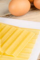 Lasagna sheets and eggs