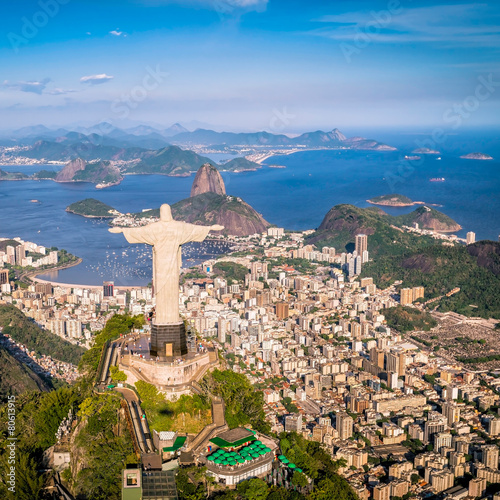 Foto op Canvas Zuid-Amerika land Rio de Janeiro, Brazil : Aerial view of the city