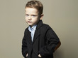 fashionable little boy.stylish kid in suit. children