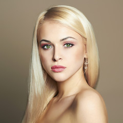 Young blond woman.Beautiful Girl