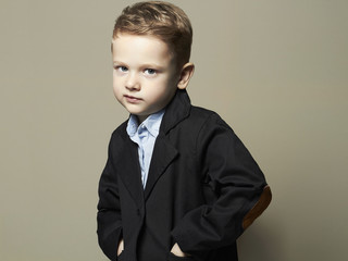 fashionable little boy.stylish kid in suit. children