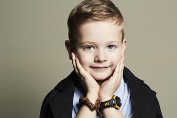 funny child.handsome little boy