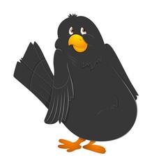 Black Scared Bird Vector