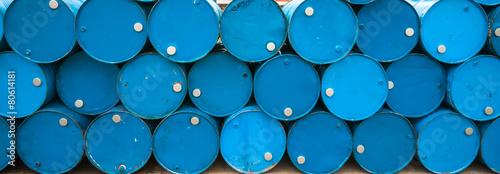 Leinwanddruck Bild Oil barrels or chemical drums