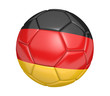 Leinwanddruck Bild - Soccer ball, or football, with the country flag of Germany
