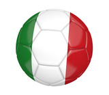 Soccer ball, or football, with the country flag of Italy