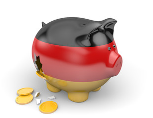 Germany economy and finance concept for national debt crisis
