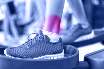 Hurting ankles - pain caused by fitness injury