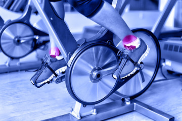 Sports injury - ankle pain on spinning bike at gym