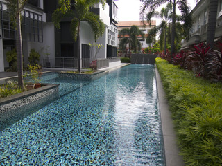 A condo swimming pool