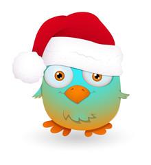 Cute Santa Bird