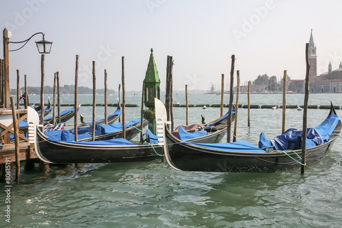 Foto op Canvas Gondolas Traditional gondolas in Venice, Italy