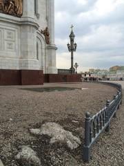 Часть фасада храма Христа Спасителя