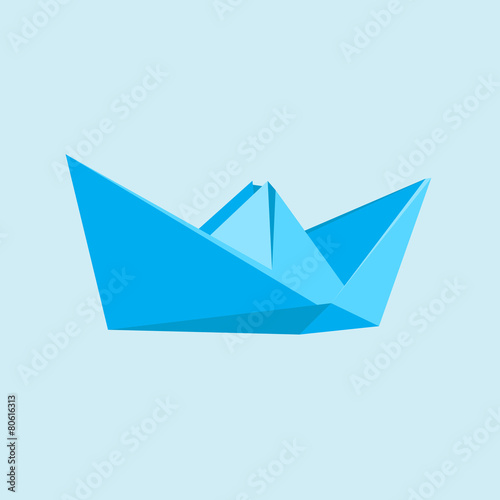 Boat in a flat style - 80616313