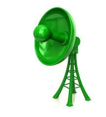 Green dish antenna