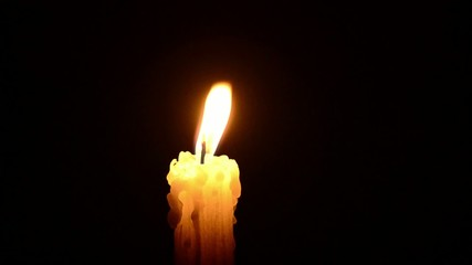 Candle and wind, blinking