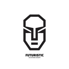 Abstract human face - vector logo. Human character logo.