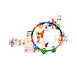 Colorful tambourine design - 80618577