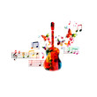 Colorful guitar design - 80618583