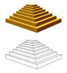 Two pyramids.