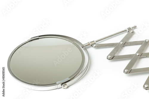 Cosmetic magnifying  mirror isolated on white - 80618565