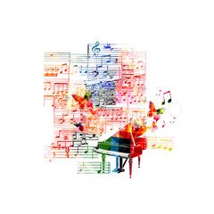 Colorful piano design