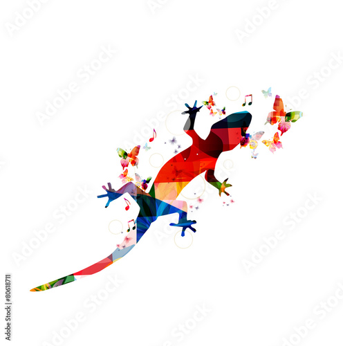 Colorful gecko design