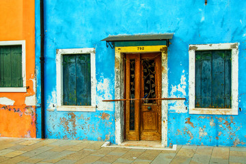 Old  house on the Venetian island of Burano