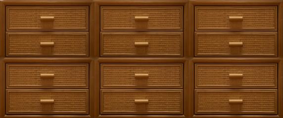 modern brown wooden drawers
