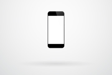 Black Smartphone Gadget On Background With Shadow