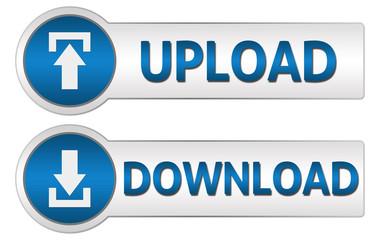 Upload Download Blue Buttons