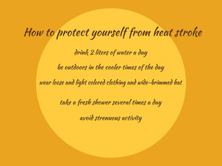 Summer heat safe protect..